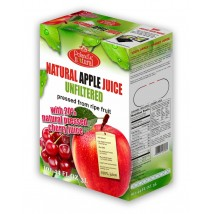 Natural  Apple 80% Cherry 20% 3 Liters pressed NFC juice