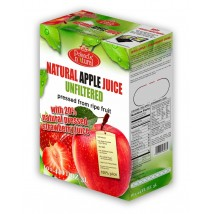 Natural  Apple 80% Strawberry 20% 3 Liters pressed NFC juice